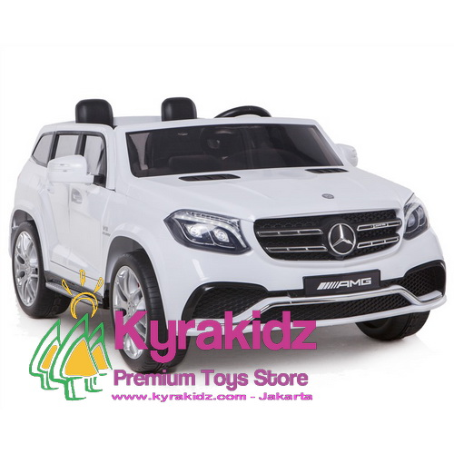 White Mercedes Benz >> Mainan Mobil Aki Mercedes Benz Gls63 Amg Video Display With Working Doors Rubber Tyres White